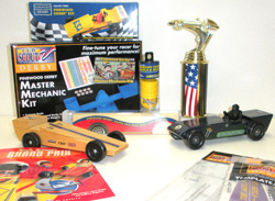 Boy Scout pinewood derby supplies